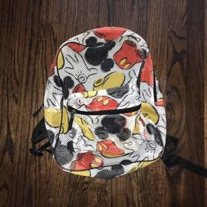 Disney Parks Mickey mesh backpack bag Mickey mouse